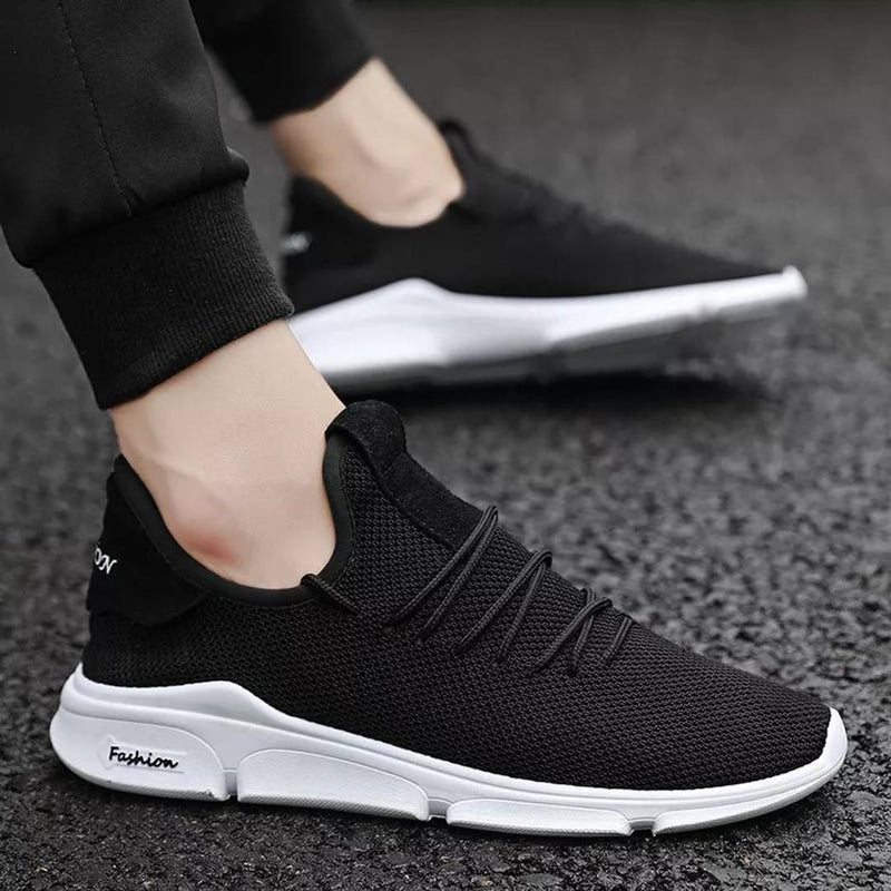 Mens Trendy Black Sneaker Sports Shoes