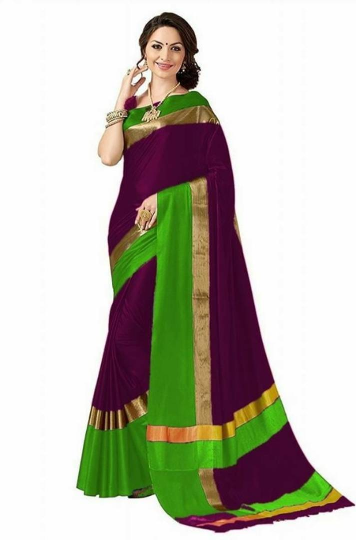 Trendy Cotton Silk Saree with Blouse