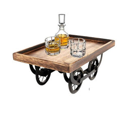 Exclusive Wood Cart, Snack Serving Platter for Dining Table, (L x W x H) :- 11.50 x 7.50 x 5.00 in Inches