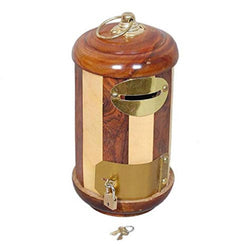 Wooden Letter Post Box Shaped Money Bank