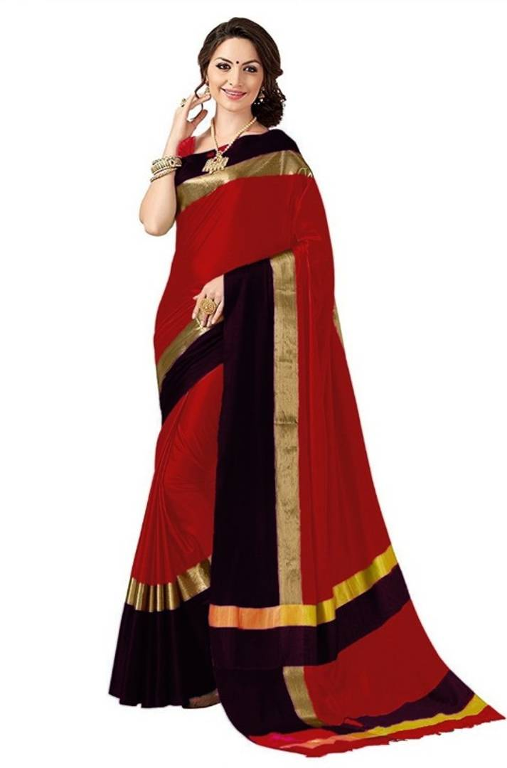 Trendy Cotton silk Sarees With Blouse Piece