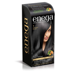 Cream Hair Color With Argan Oil & Green Tea Extract No Ammonia Cream Formula Smooth Care For Your Precious Hair! Natural Black (Pack Of 1)