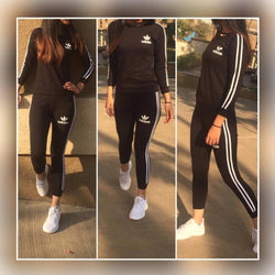 Cotton Spandex Tracksuit For Women's