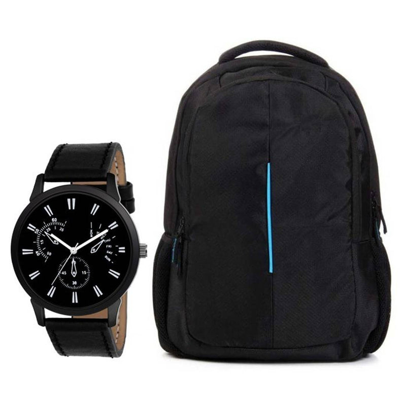 Combo Of Watch With Laptop Bag