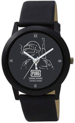 Black Synthetic Analog Watch For Men