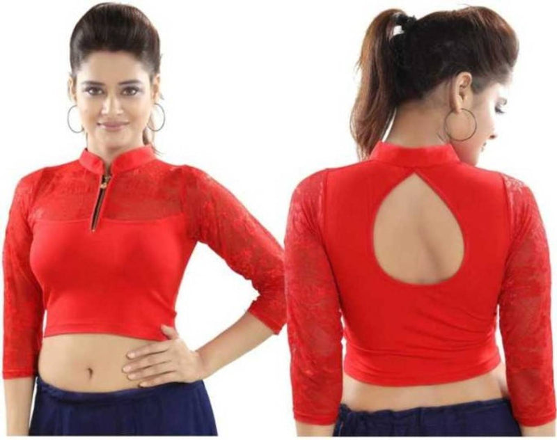 Cotton Spandex Women's Readymade Stretchable blouses for Saree
