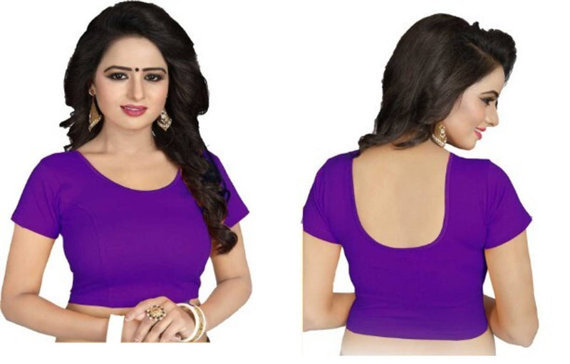 Cotton Spandex Women's Readymade Stretchable blouse for saree