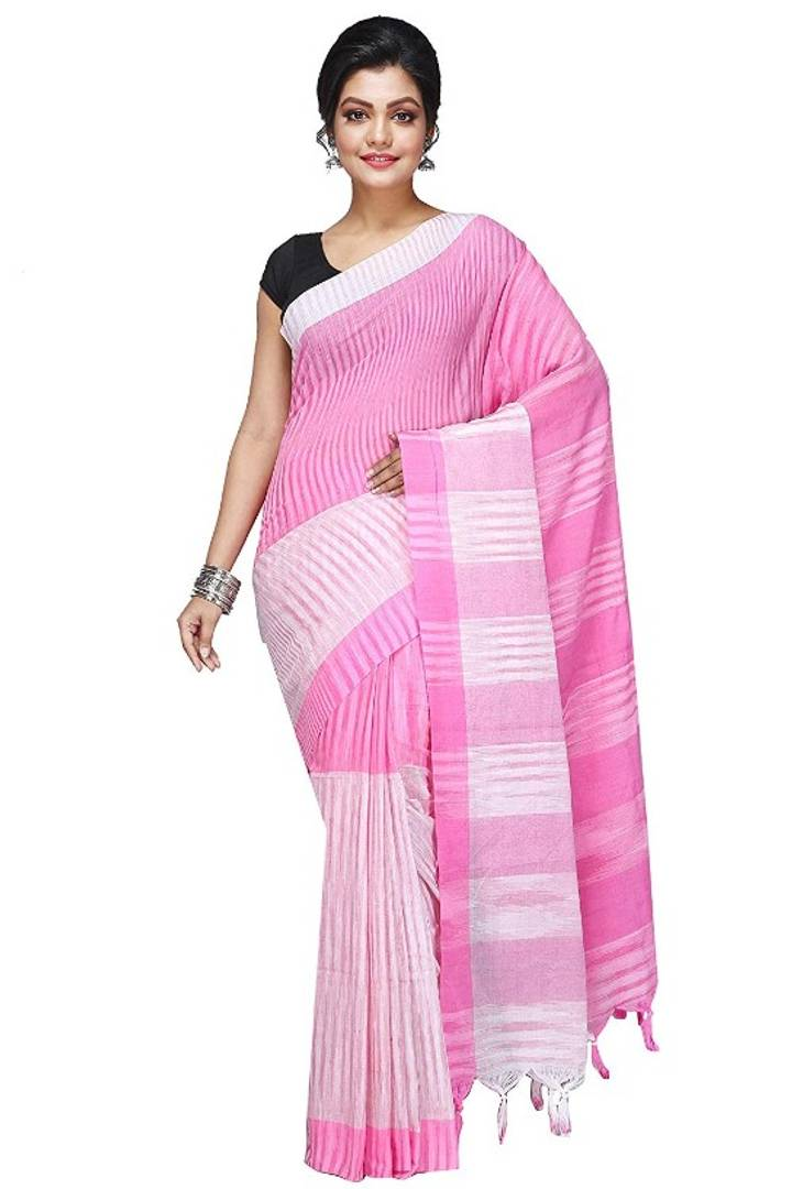 Multicoloured Cotton Saree with Blouse piece