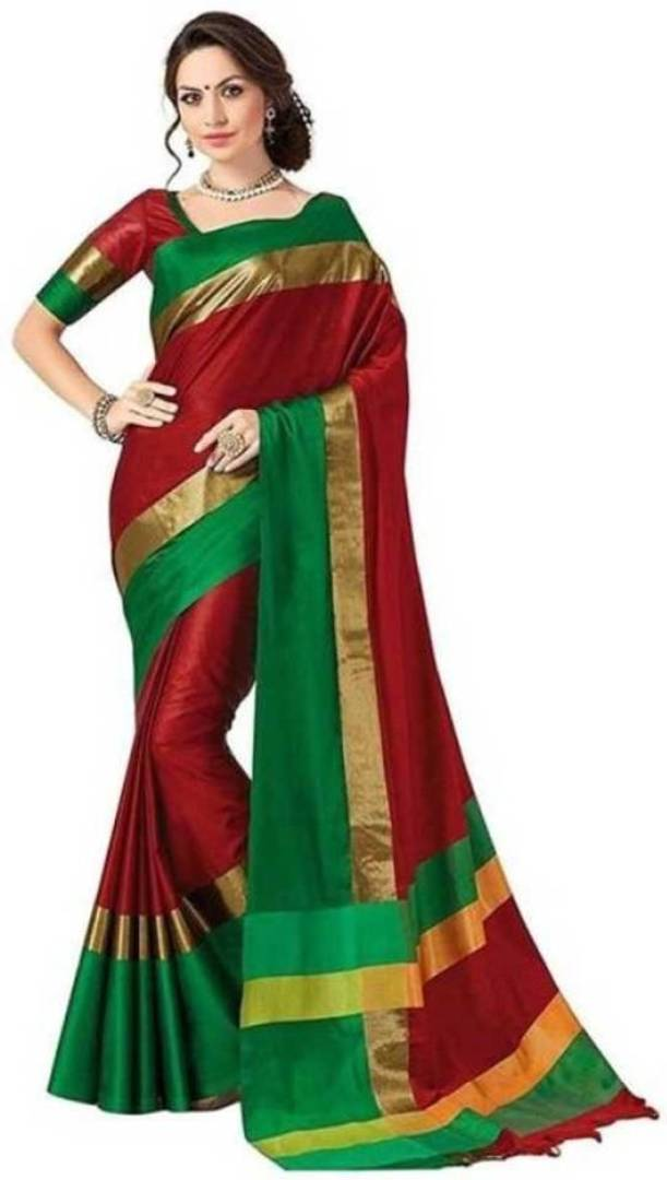 Cotton Silk Sarees with Blouse piece