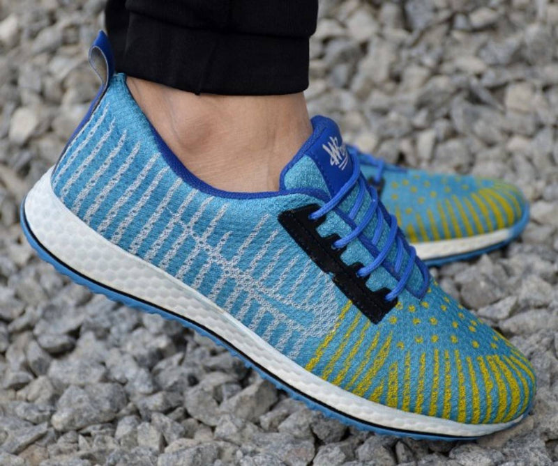 Trendy High Fashion Blue Mesh Sports Shoes