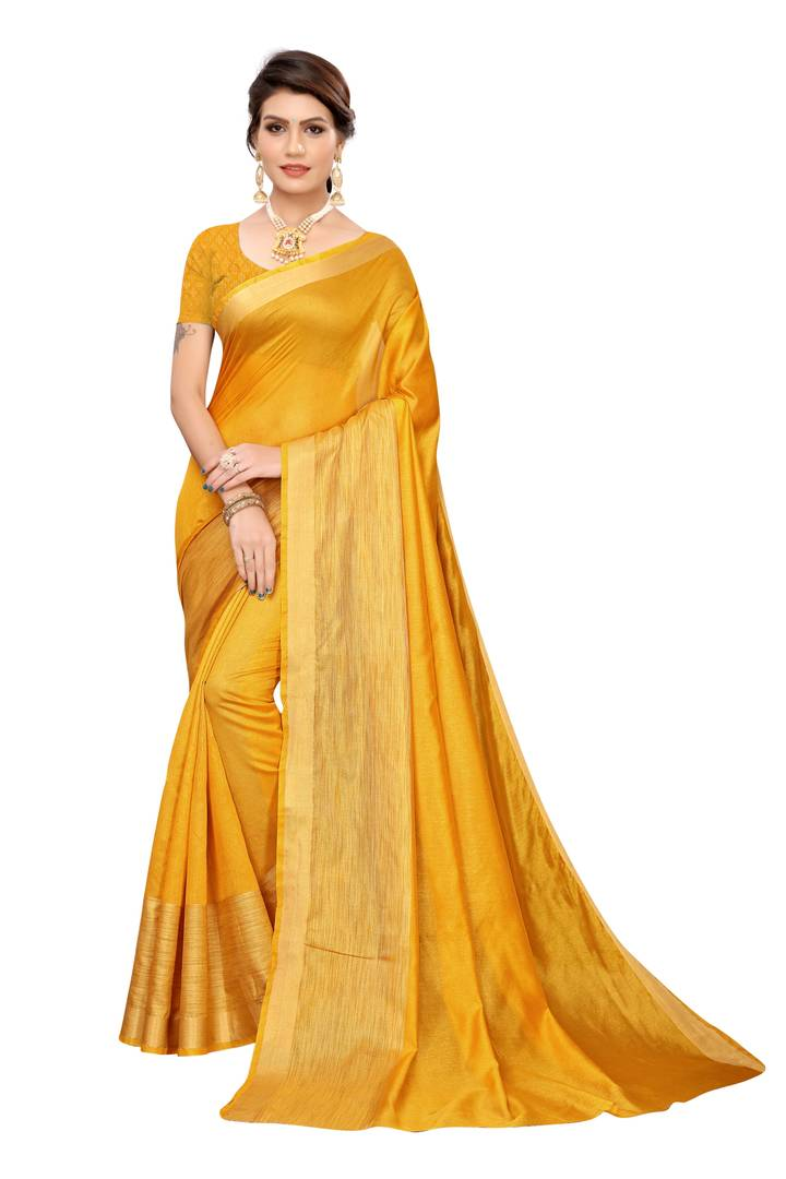 Women Cotton Silk Saree with Blouse