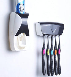 Shopper52 Automatic Toothpaste Dispenser with Tooth Brush Holder for Home and Bathroom Acessories