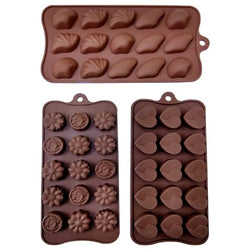 Silicone Chocolate Baking Moulds Set of 3