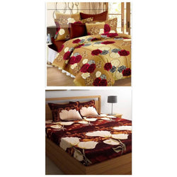 Poly Cotton Bed Sheet Combo ( 2B+4P )