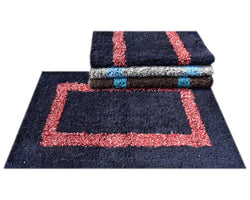 Beautiful Multicoloured Cotton Door Mats Set Of 4 Pieces