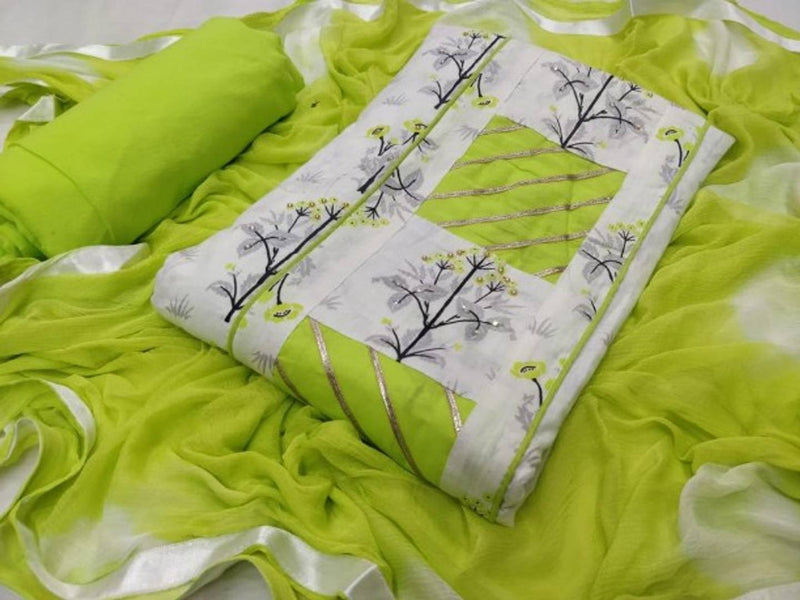 Stylish PC Cotton Printed Dress Material With Dupatta