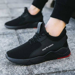 Trendy Cool Stylish Black Solid Sports Sneaker