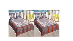 Printed Multicolored Cotton Bedsheet Combo