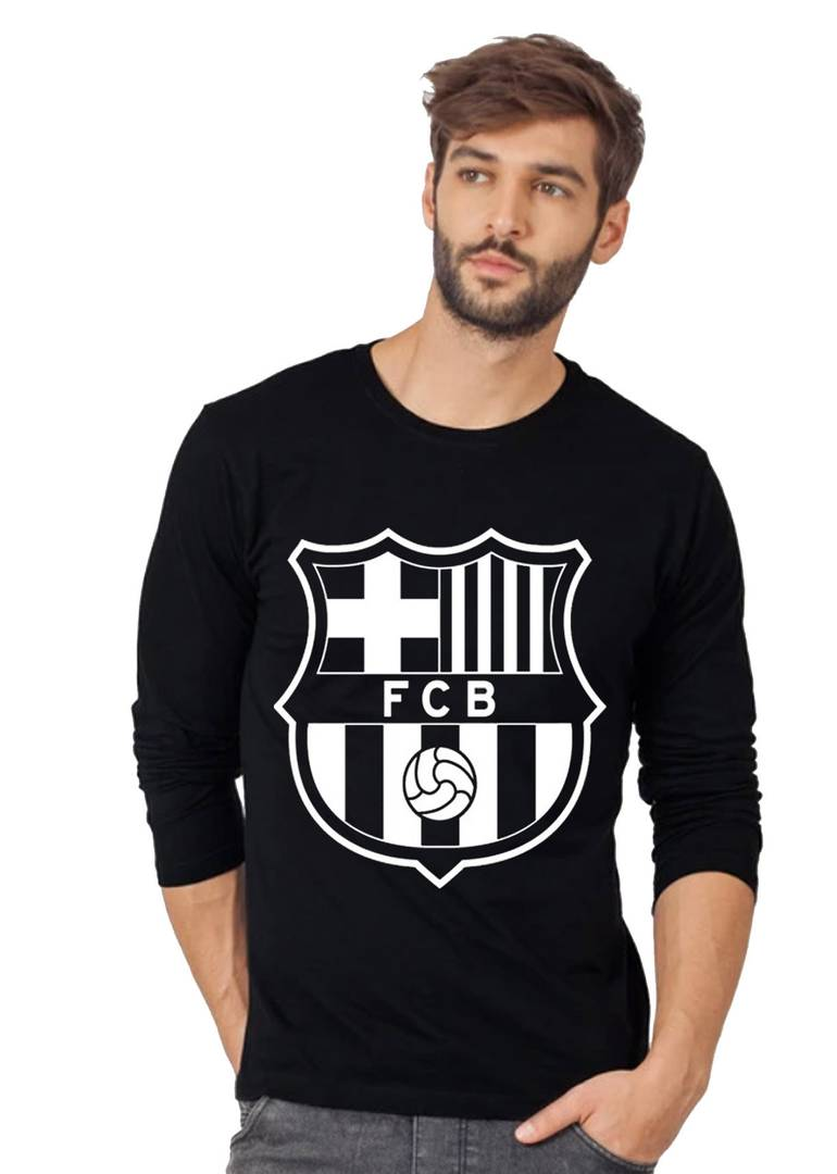 Men Black Printed Polyester Sports Jersey