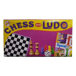 NHR Board Game Chess with Ludo for Kids