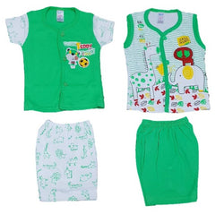 Triple B New Born Baby Boys And Girls Baba Suit For 0-3 Months Babies (Pack of 2 Pair)