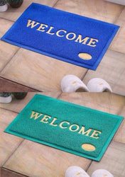 Welcome Printed PVC Door Mat II Combo of 2 II