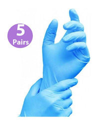 5 Pairs Household Bathroom Cleaning Hair Dye and Germs Protection Gloves