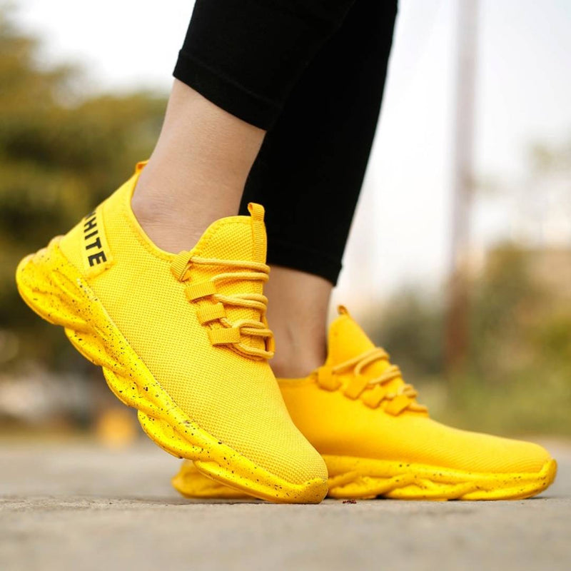 Men's Yellow Casual Running Sports Shoes