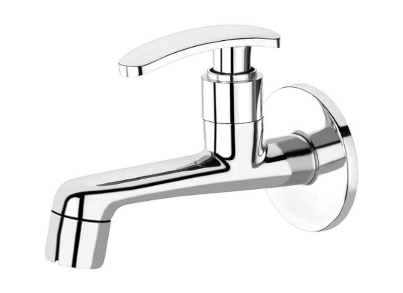 Long Bib Cock Chrome Plated Brass Tap for Bathroom/Kitchen (Stella Collection)