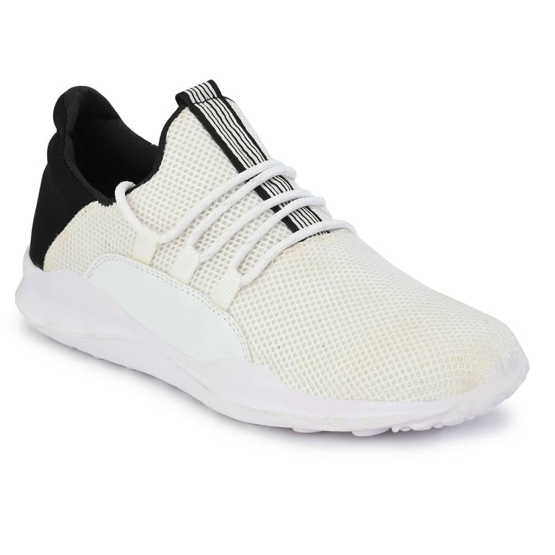 Stylish Mesh white Sports Running Shoes For Men