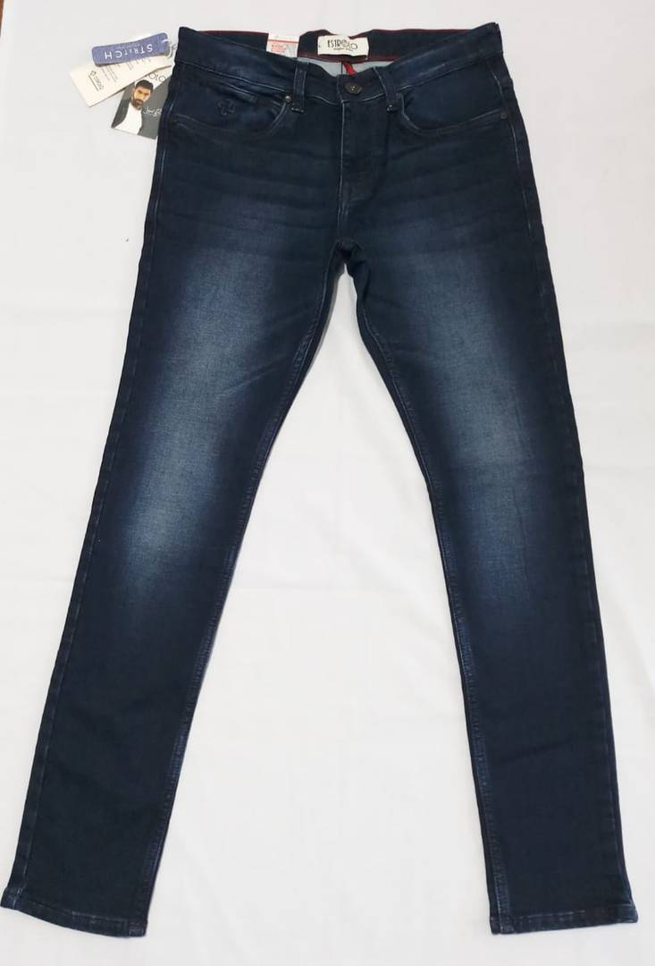 Premium Indigo Blue Knits Men Jeans