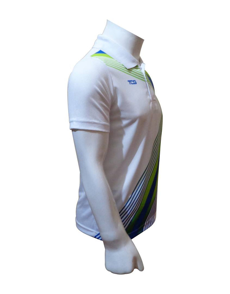 Men's Multicoloured Polyester Blend Printed Sports Jerseys Polos