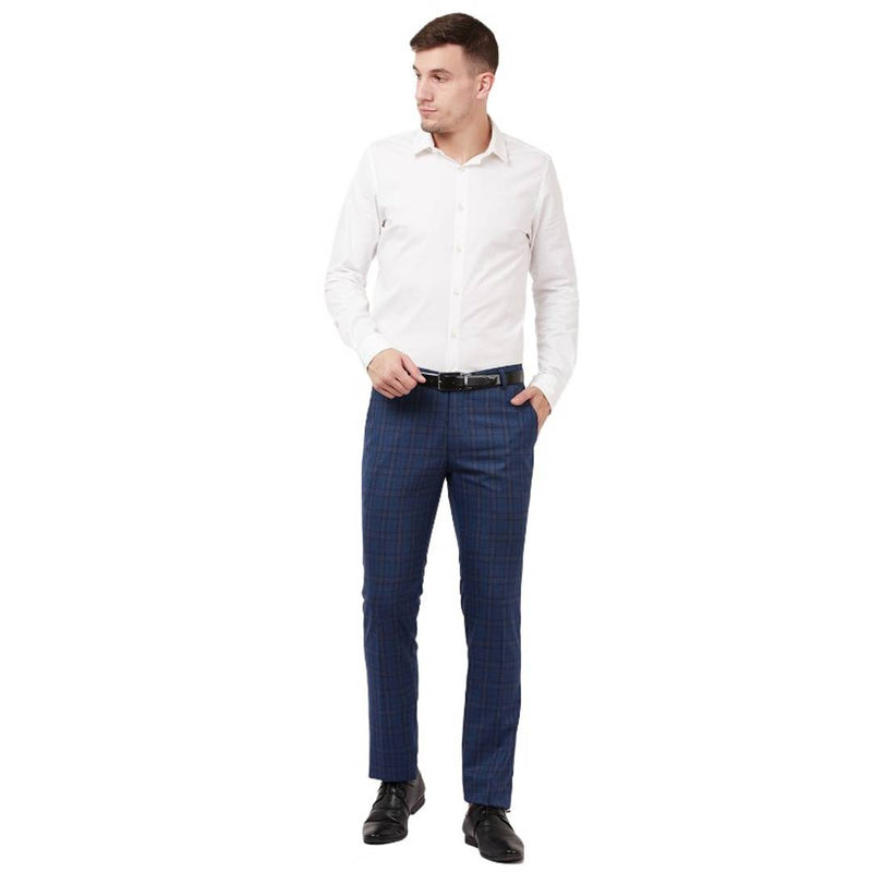 Blue Formal trousers for men