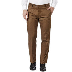 BROWN LINEN TROUSERS FOR MEN
