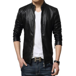 Trendy Leather Solid Jacket For Men