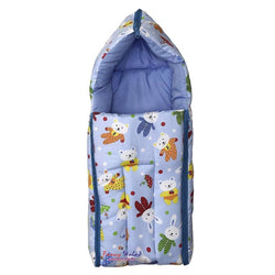 New Born Baby Cotton Fabric Baby Hooded Blanket Cum Wrapping Sleeping Bag