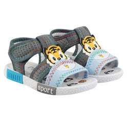 Girls Multicoloured Fabric Solid Comfort Sandals