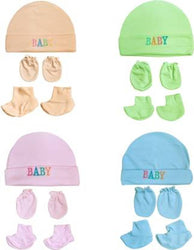 Supersoft cotton Booty, Mitten and Cap combo's for new born baby boy and baby girl  (Multicolor)