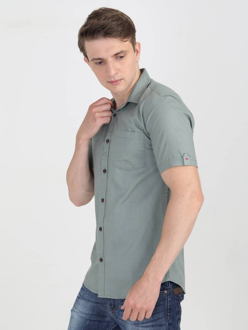 Men Half Sleeve Cotton Shirts