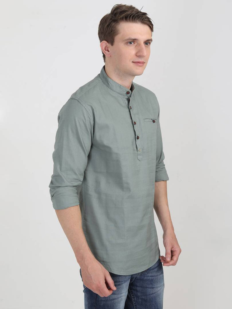 Men Casual Cotton Shirt Full Sleeve