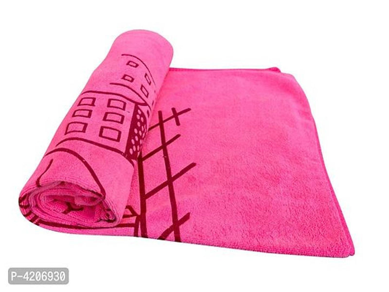 New Born Infant Baby Microfiber Quality Baby Towel Extra Soft Warm Baby Printed Washcloth (Pack Of 2)