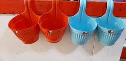 Premium Plastic Multicolored Hanging Plating Pot ( Set Of 4 Pieces )