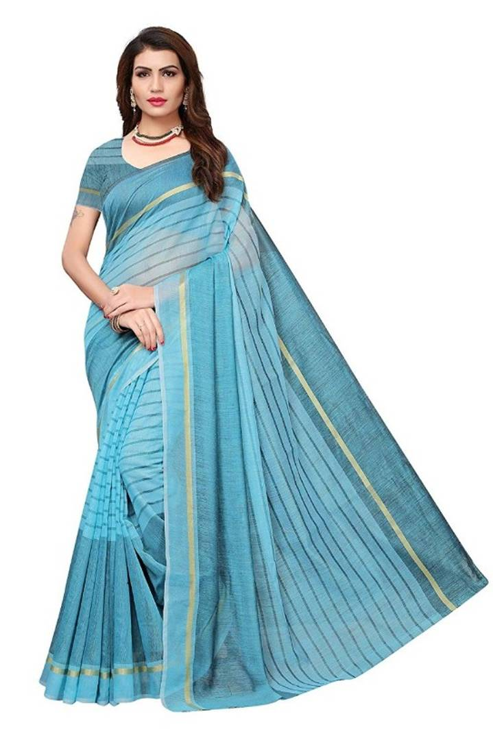Beautiful Chanderi Cotton Saree with Blouse piece