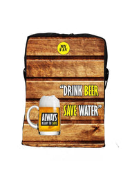 Premium Polyester Drink Beer Save Water Messenger Sling Bag For Men And Women