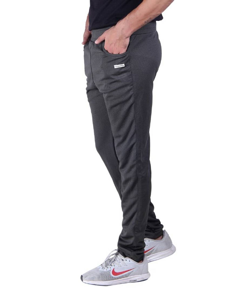 Men's Micro Polyester Blend Dri fit Trackpants Single Bone With Zip Pocket