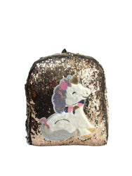 Unicorn Backpack Leather Sequins Women Shoulder Bag Backpacks for Teenage Girls Travel Bag Pack.