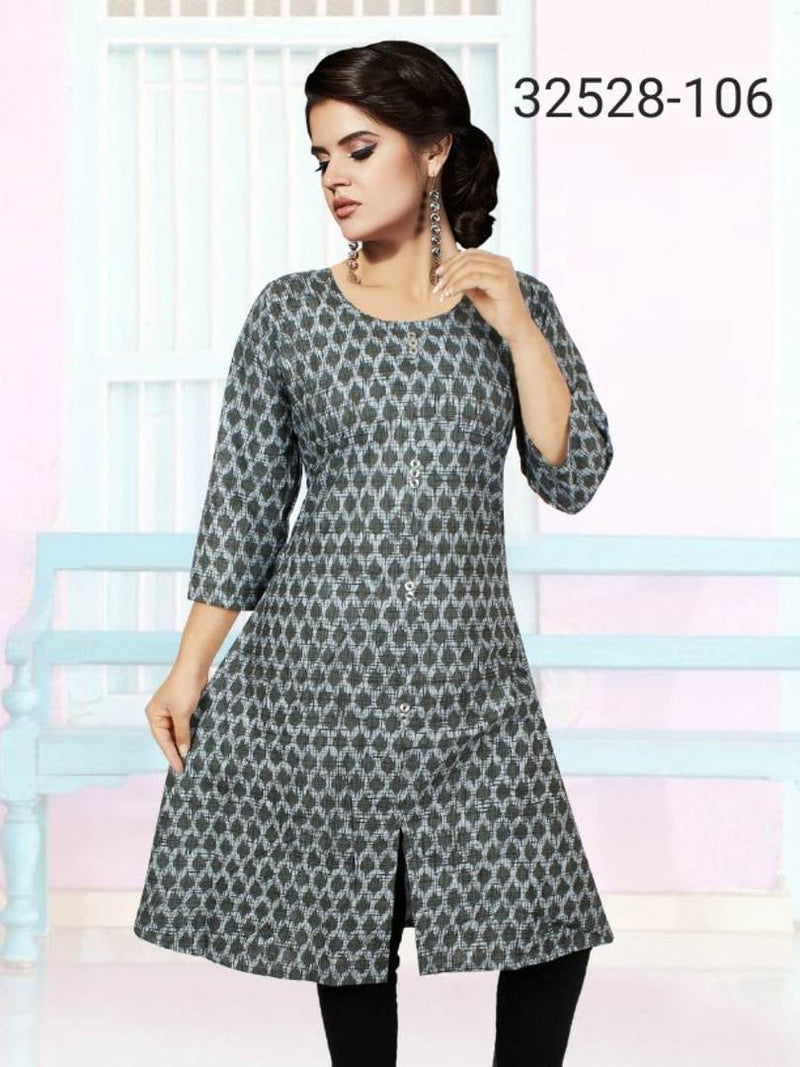 Cotton Printed Knee Length Kurti