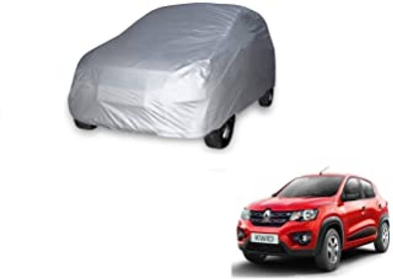 Car Body Cover Compatible for  Kwid Silver Matty & Grey Matty