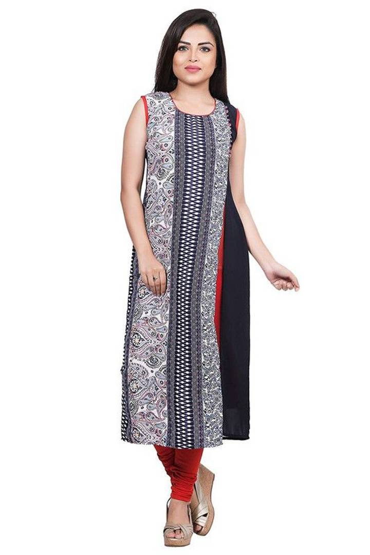 Stylish Georgette Printed Multicoloured Kurta For Women