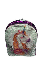 Unicorn Backpack Leather Reversible Double-sided Sequins Women Shoulder Bag Backpacks for Teenage Girls Travel Bag Pack.(U-10001)